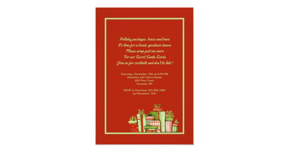 Secret Santa Party Invitation | Zazzle.com