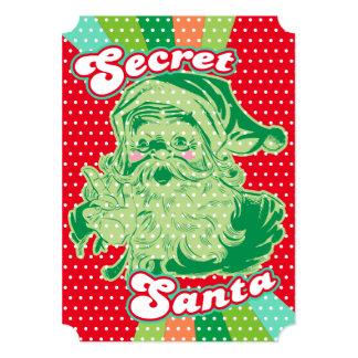 Secret Santa Pop Art Custom Party Invitations