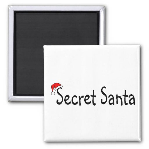 Secret Santa Refrigerator Magnets