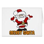SECRET SANTA STATIONERY NOTE CARD