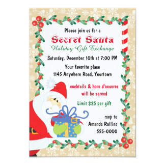 Secret Santa with Party Invitation