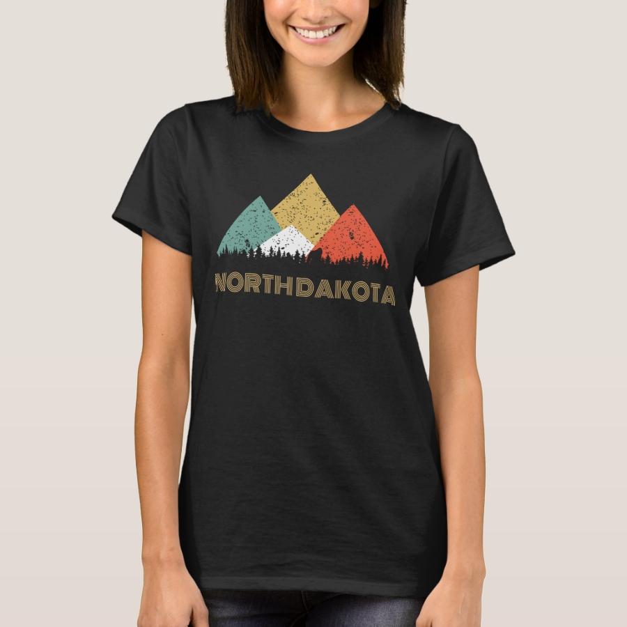 Secret Sasquatch Hidden Retro North Dakota Hiding T-Shirt - Best Selling Long-Sleeve Street Fashion Shirt Designs