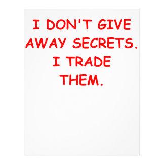 secret secrets letterhead