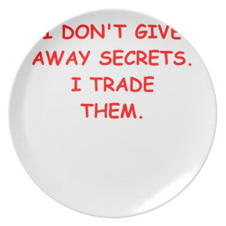 secret secrets plate