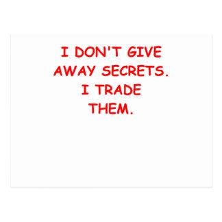 secret secrets postcard