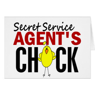 Secret Service Agent's Chick Greeting Card