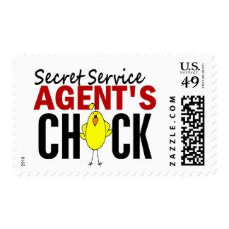 Secret Service Agent's Chick Postage Stamps