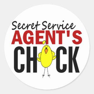 Secret Service Agent's Chick Classic Round Sticker