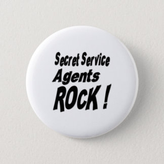 Secret Service Agents Rock! Button