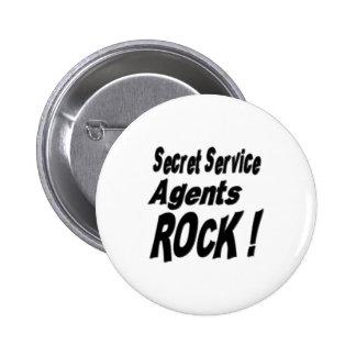 Secret Service Agents Rock! Button