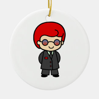 Secret Service Boy 2 Christmas Tree Ornament