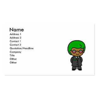 Secret Service Boy Business Card Template