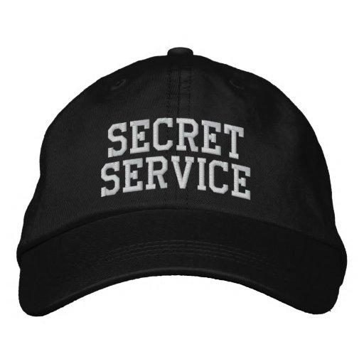 SECRET SERVICE EMBROIDERED BASEBALL CAP