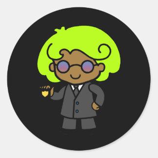 Secret Service Girl 1 Classic Round Sticker