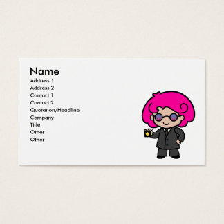 Secret Service Girl Business Card