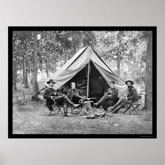 Secret Service Officers at Brandy Station, VA 1864 Poster