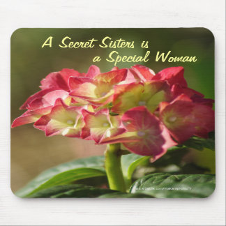 Secret Sister Hydrangea Mousepad- customize Mouse Pad