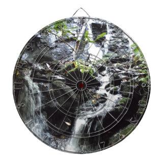 Secret Smoky Mountain Waterfall Dartboard With Darts