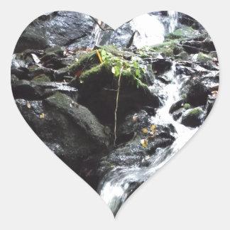 Secret Smoky Mountain Waterfall Heart Sticker