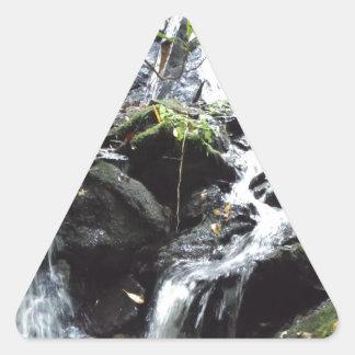 Secret Smoky Mountain Waterfall Triangle Sticker