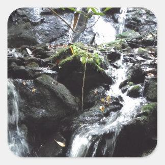 Secret Smoky Mountain Waterfall Square Sticker