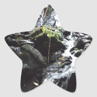 Secret Smoky Mountain Waterfall Star Sticker