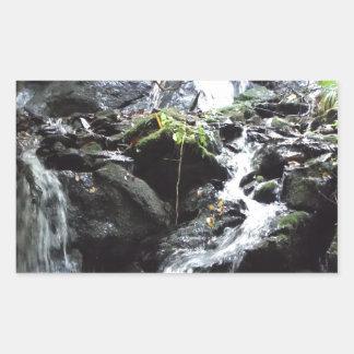 Secret Smoky Mountain Waterfall Rectangular Sticker
