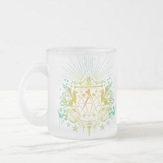 Secret Society 10 Oz Frosted Glass Coffee Mug