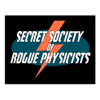 Secret Society of Rogue Physicists Postcard