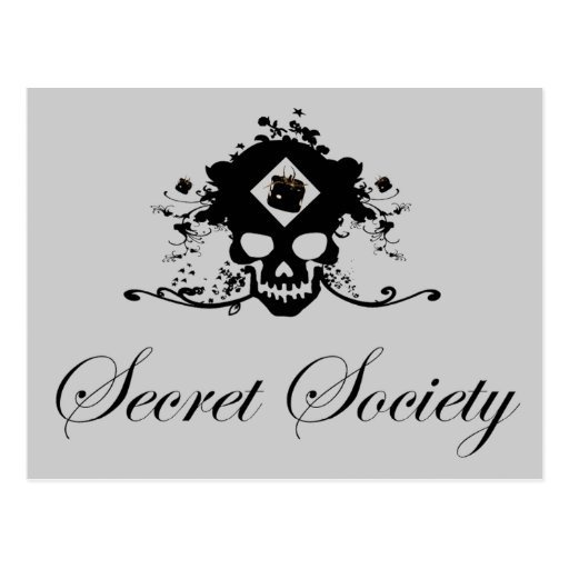 Secret society - postcard