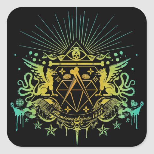 Secret Society Square Stickers