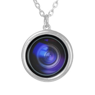 SECRET SPY CAMERA (Fake but Effective!) Silver Plated Necklace