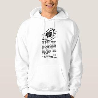 Secret Spy Camera Vintage Ad Hooded Sweatshirt
