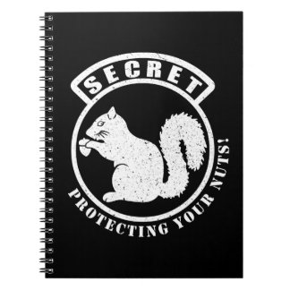 Secret Squirrel Patch Protecting Your Nuts Notebook