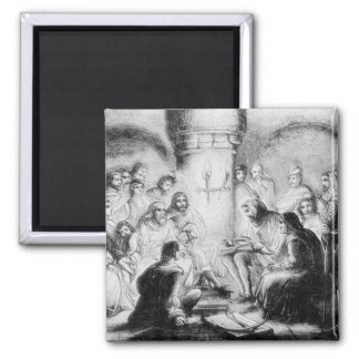 Secret Study of Wycliffe's Bible 2 Inch Square Magnet