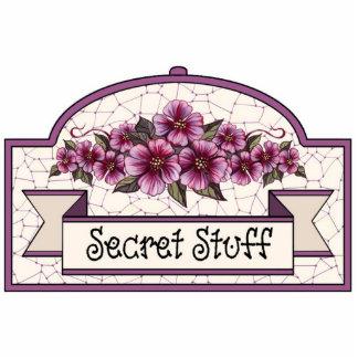 """Secret Stuff"" - Decorative Sign - 16 Cutout"