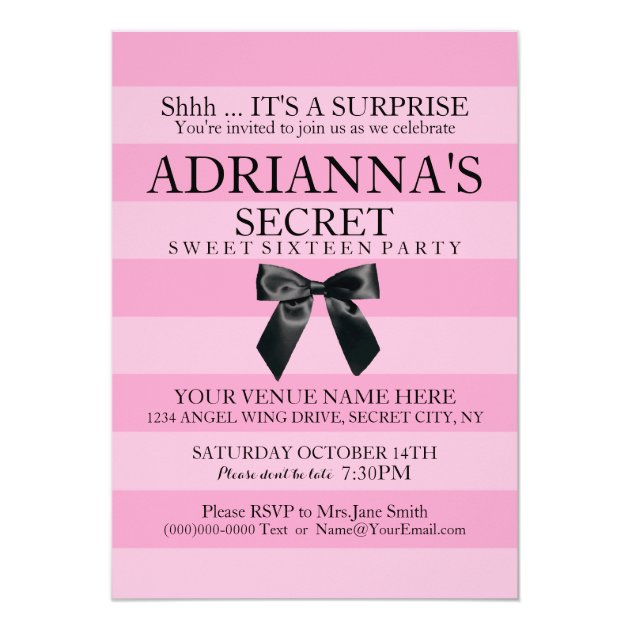 Surprise Invitation Cards was perfect invitation layout