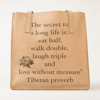 Secret To A Long Life Tote