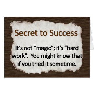 Secret to Success  Stationery Note Card