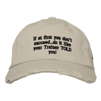 Secret to success embroidered baseball cap