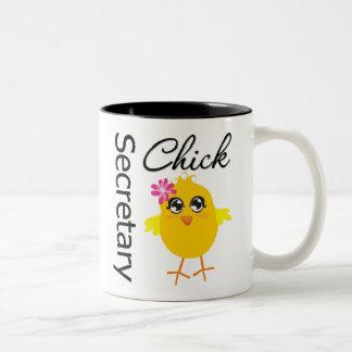 Secretaria Chick Taza De Dos Tonos