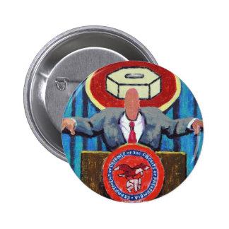 ¡Secretaria de la defensa de Zomblandia! Pin Redondo De 2 Pulgadas