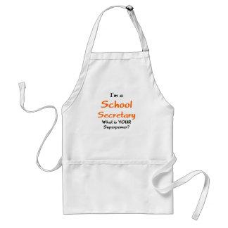 Secretaria de la escuela delantal