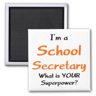 Secretaria de la escuela imán cuadrado