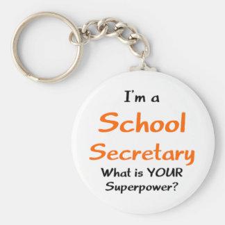 Secretaria de la escuela llavero redondo tipo pin