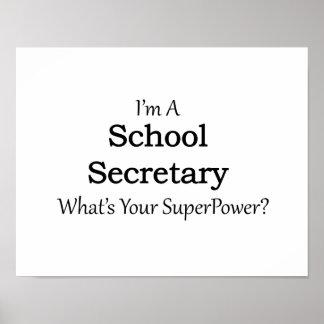 Secretaria de la escuela póster
