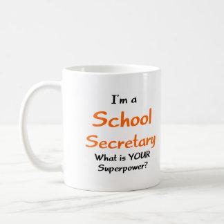 Secretaria de la escuela taza básica blanca