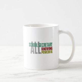 Secretaria de la escuela taza de café