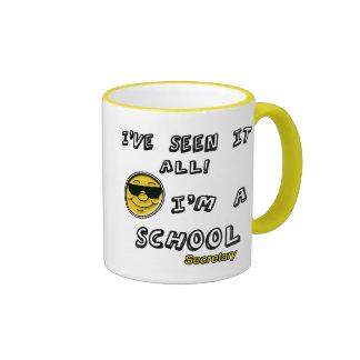 Secretaria de la escuela taza de dos colores
