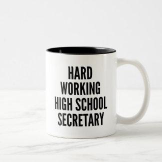 Secretaria de trabajo dura de la High School Taza De Café De Dos Colores
